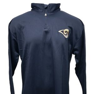 Los Angeles Rams 1/4 Zip NFL Pullover B&T Sizes